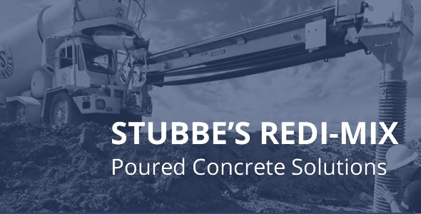 Stubbes Redi-Mix cement pouring