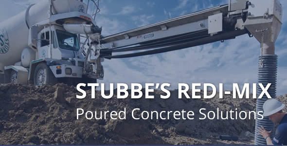 Stubbes Redi-Mix cement pouring overlay